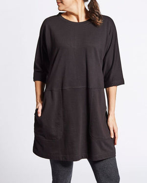 french terry cotton relaxed fit sweater dress