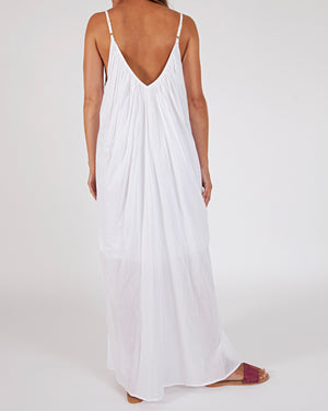 woven cotton maxi dress