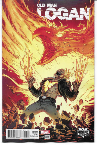 marvel comics old man logan 32 phoenix variant lucky cat comics