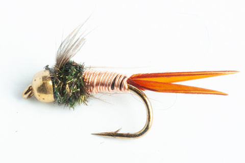 bead head copper john nymph fly
