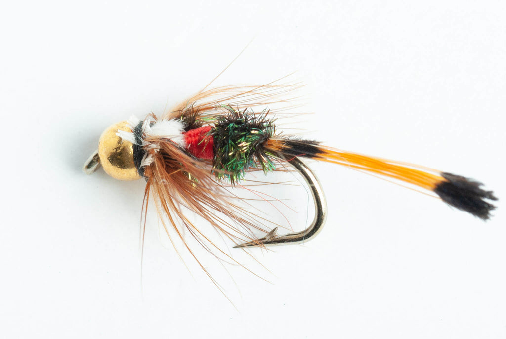6 Pack Blue Wing Olive Bead Head Pheasant Tail Nymph Fly