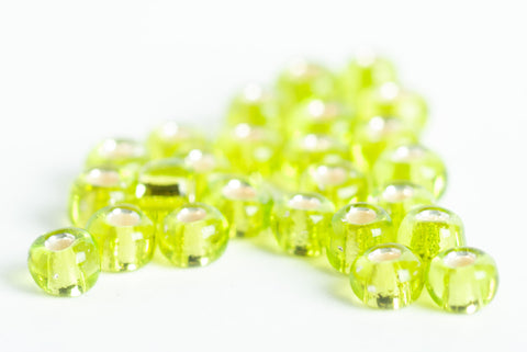 PACK OF 50 glister green fly tying X  small glass translucent beads
