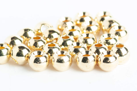 brass beads for fly tying - 25 pack gold