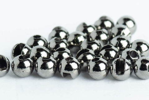blue wing olive slotted tungsten beads black nickel