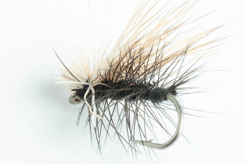 elk hair caddis dry fly black