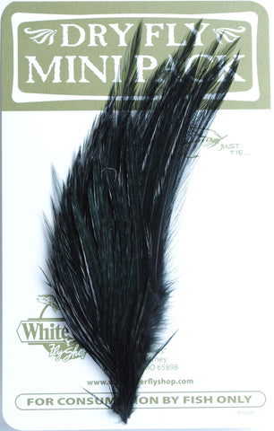Ewing Dry Fly Mini Paks black fly tying fishing