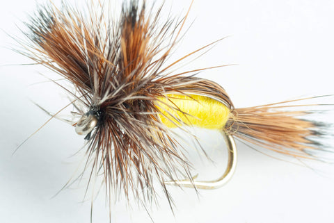 yellow humpy dry fly