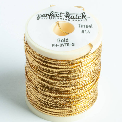 Perfect Hatch Oval Tinsel - Gold