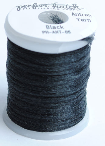 Perfect Hatch Antron Yarn fly tying material fishing black