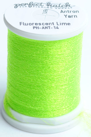 Perfect Hatch Antron Yarn fly tying material fishing chartreuse