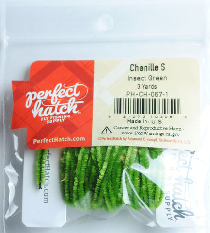 Perfect Hatch Chenille - Small fly tying fishing insect green