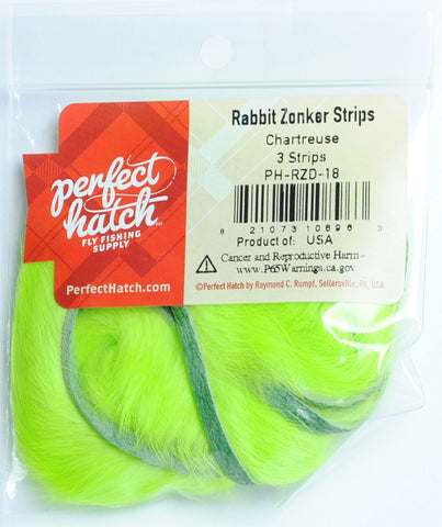 Perfect Hatch Rabbit Zonker Strips fly tying fishing