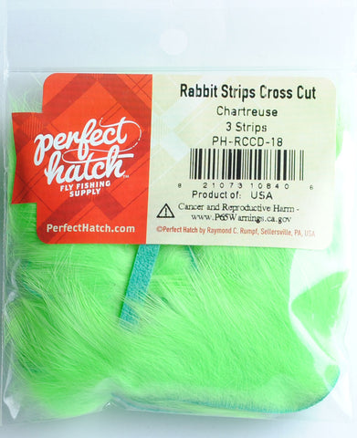 Perfect Hatch Rabbit Strips Cross Cut fly tying fishing