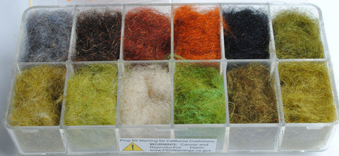 Perfect Hatch Squirrel Blend Dubbing 12 Pack Assortment fly tying fishing
