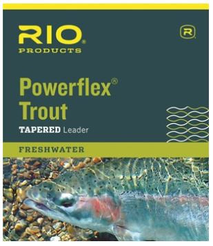 Rio Powerflex Trout Leader, 9-ft, 3-Pack