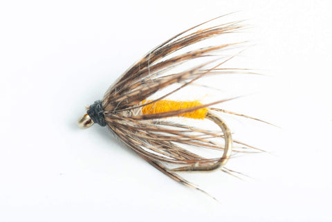 Soft-Hackle Orange and Green Wet Fly, 6-Pack