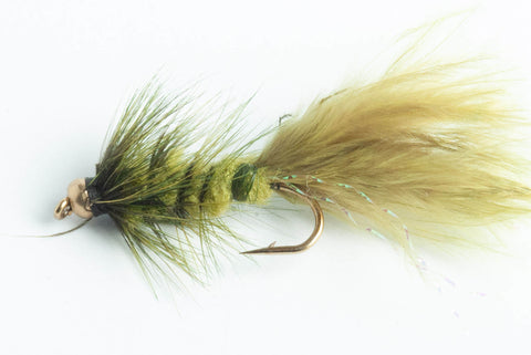bead head wooly bugger streamer fly olive