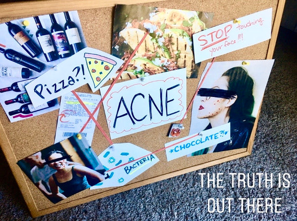 acne causes conspiracy board