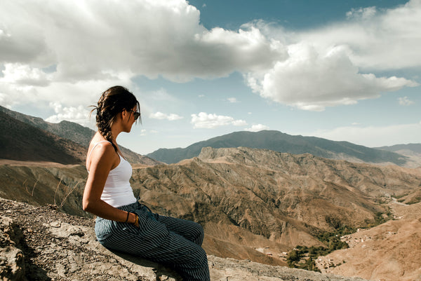 At an overlook in Morocco's Atlas Mountains