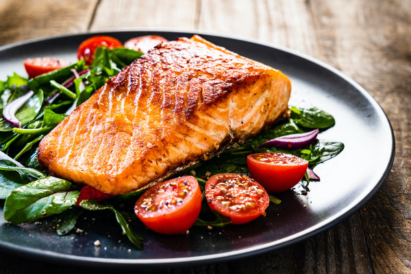 Salmon and spinach dish