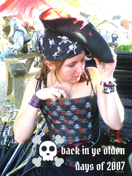 Author dressed as a pirate in 2007