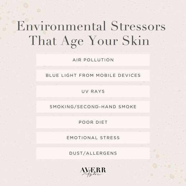 environmental stressors that age your skin