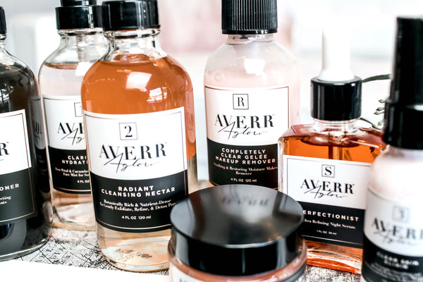 Averr Aglow products skincare line