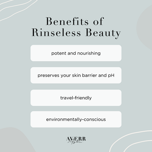 Infographic: Benefits of Rinseless Beauty