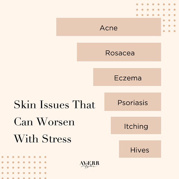infographic - Skin Issues That Can Worsen With Stress