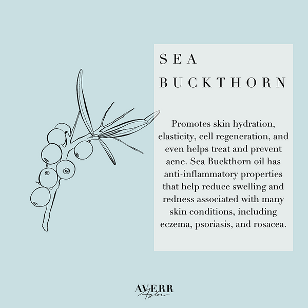 Sea buckthorn benefits your skin with potent vitamins and minerals