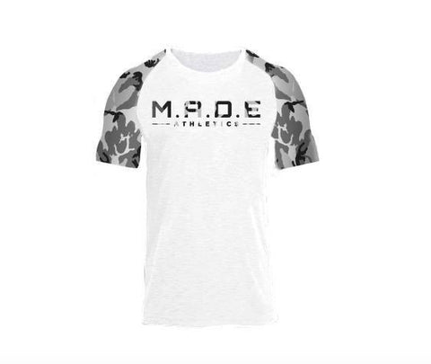 White & Camouflage T Shirt