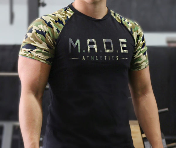 Black & Camouflage T Shirt