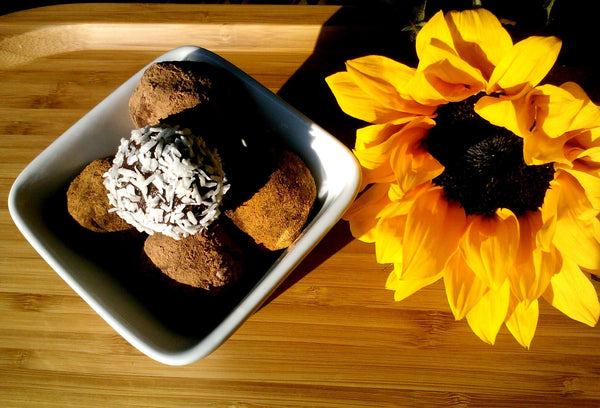 Raw Chocolate Sunshine SuperLeaf™ Moringa Truffles by Kate McPherson-­Hope