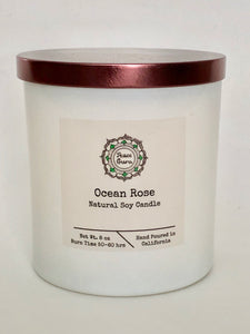 Ocean Rose - 8oz. Soy Candle
