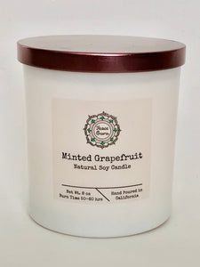 Minted Grapefruit - 8oz. Soy Candle