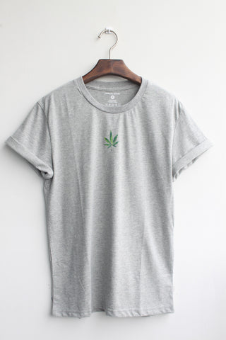Graphic tee - Maple Green - [Grey]
