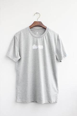 Graphic tee - illusion - [Grey]