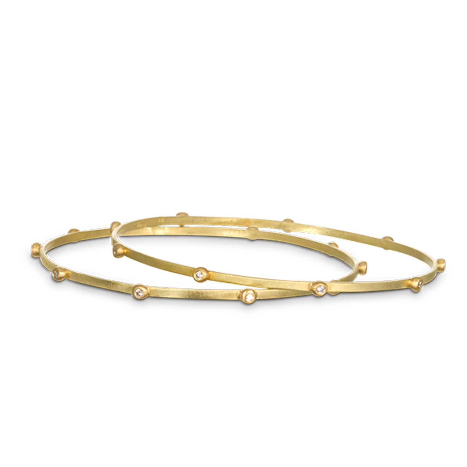 Diamond Granulation Bangles