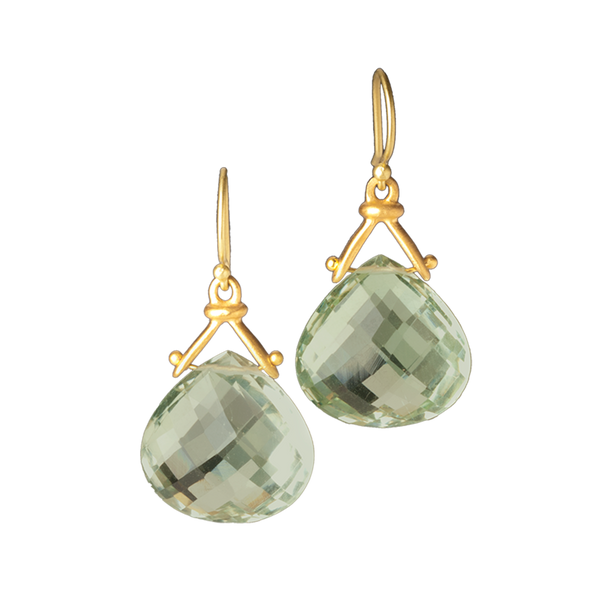 Hinged Briolette Drop Earrings