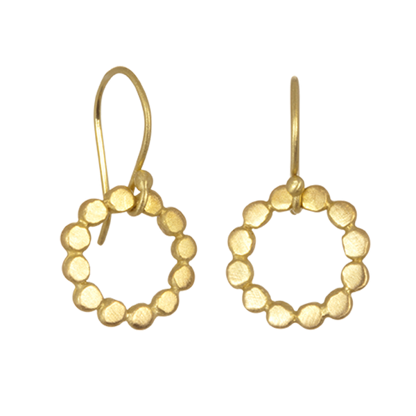 Granulation Circle Earrings
