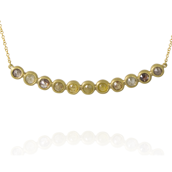 Milky Diamond Bar Necklace