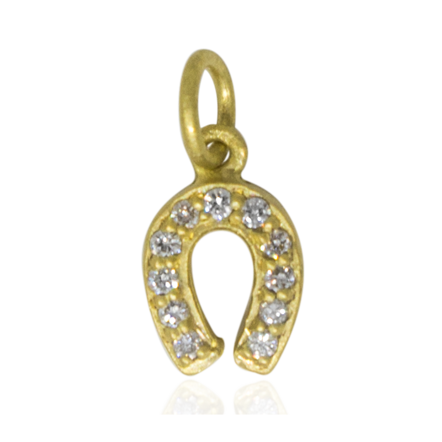 Diamond Horseshoe Charm