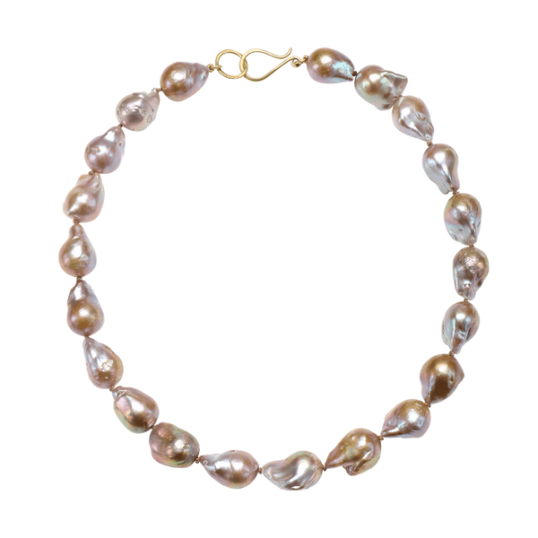 Pink Baroque Cultured Pearl Necklace