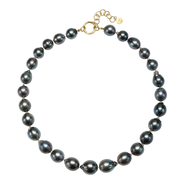 Black Tahitian Baroque Cultured Pearl Necklace