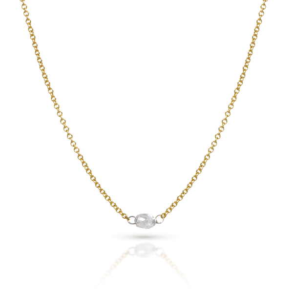 Diamond Barrel Necklace