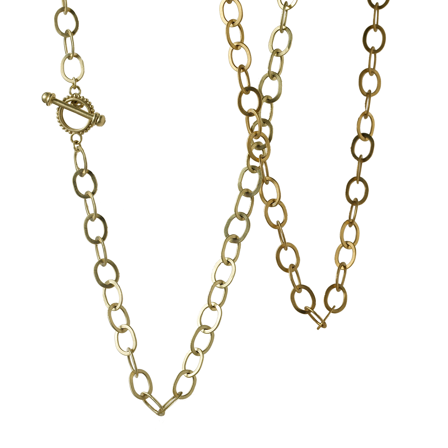 Planished Oval Link Chain
