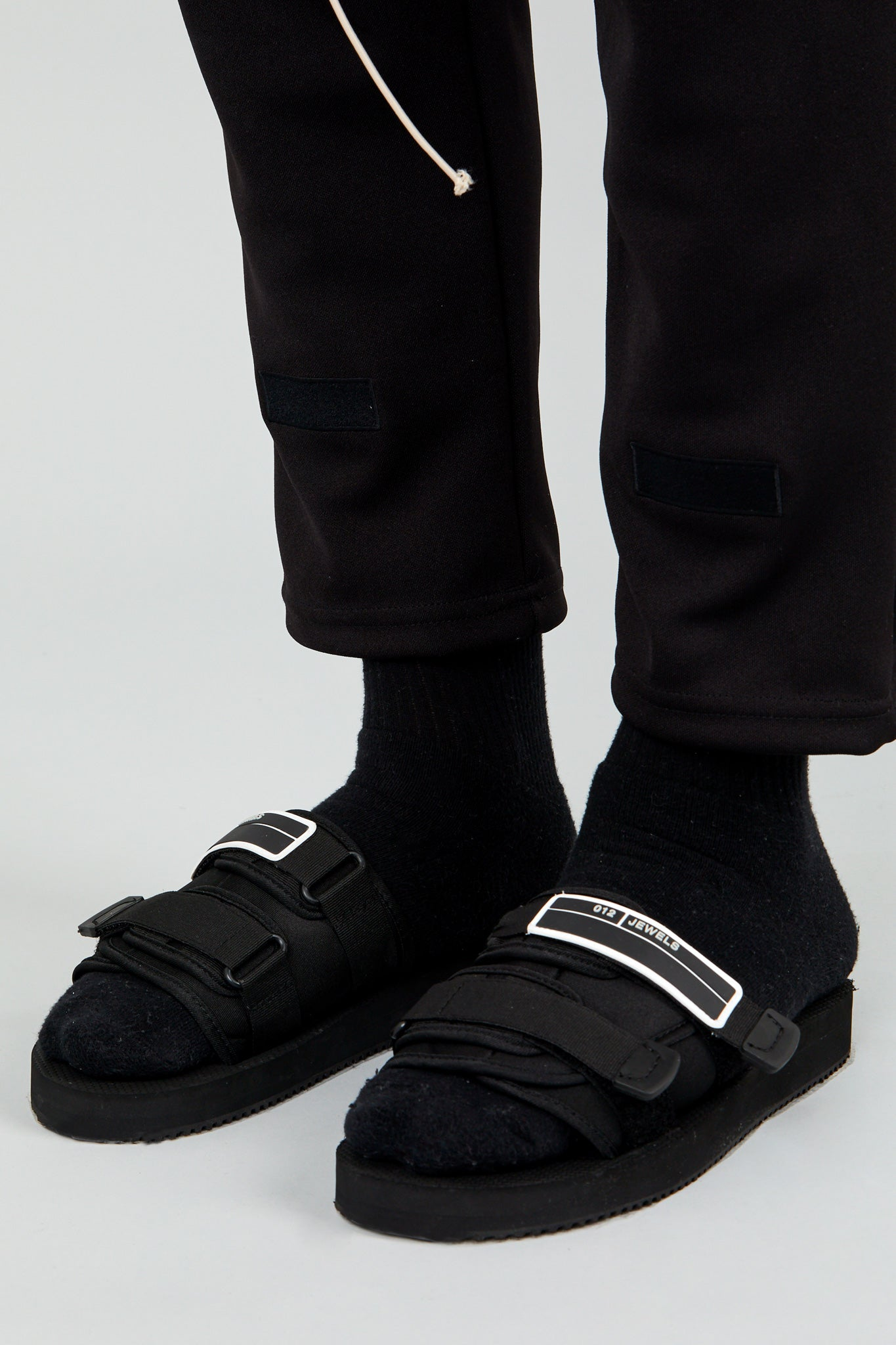 """DOUBLE UP"" Sandal - Black"