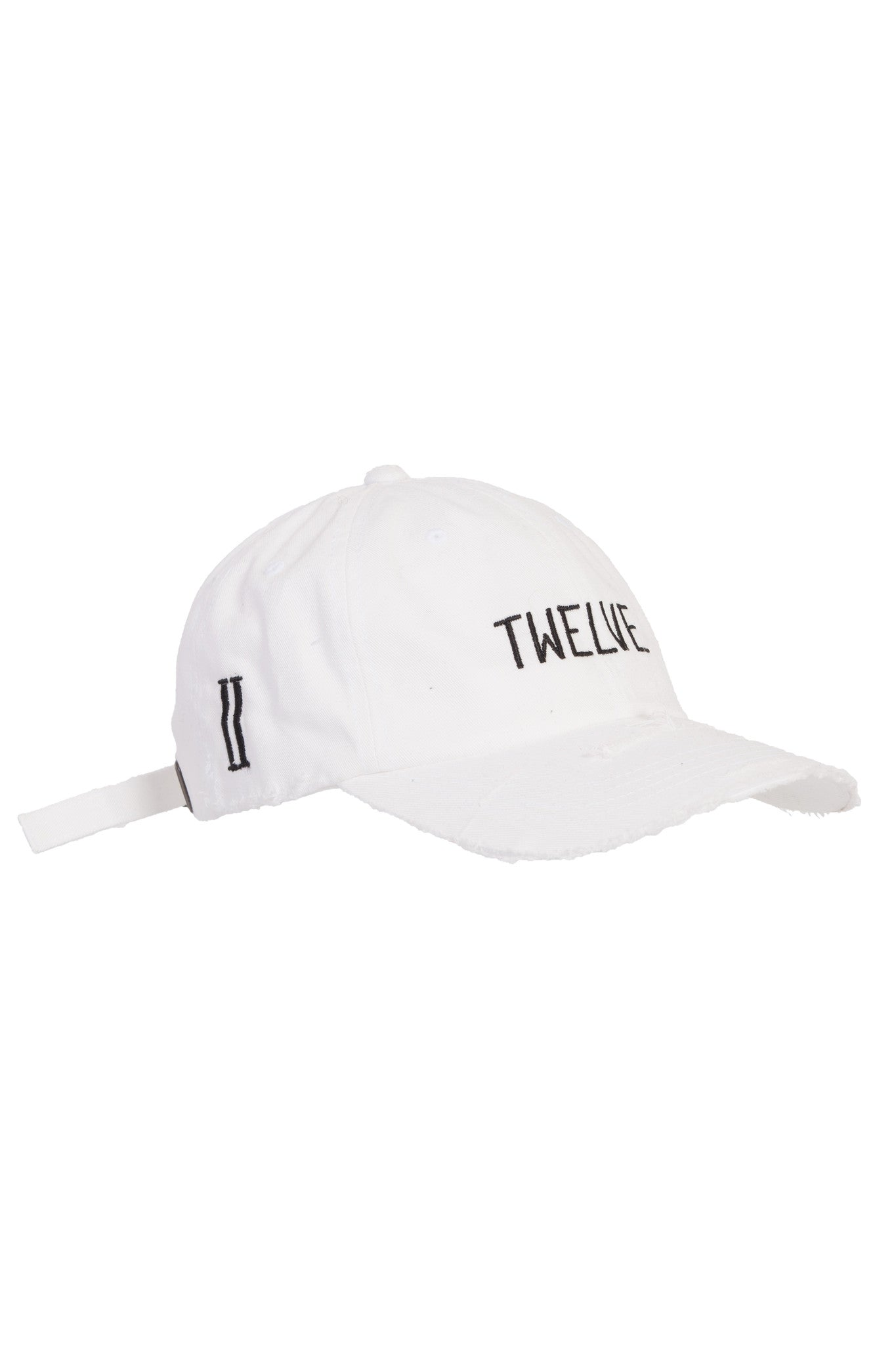 Distress Twelve Cap White
