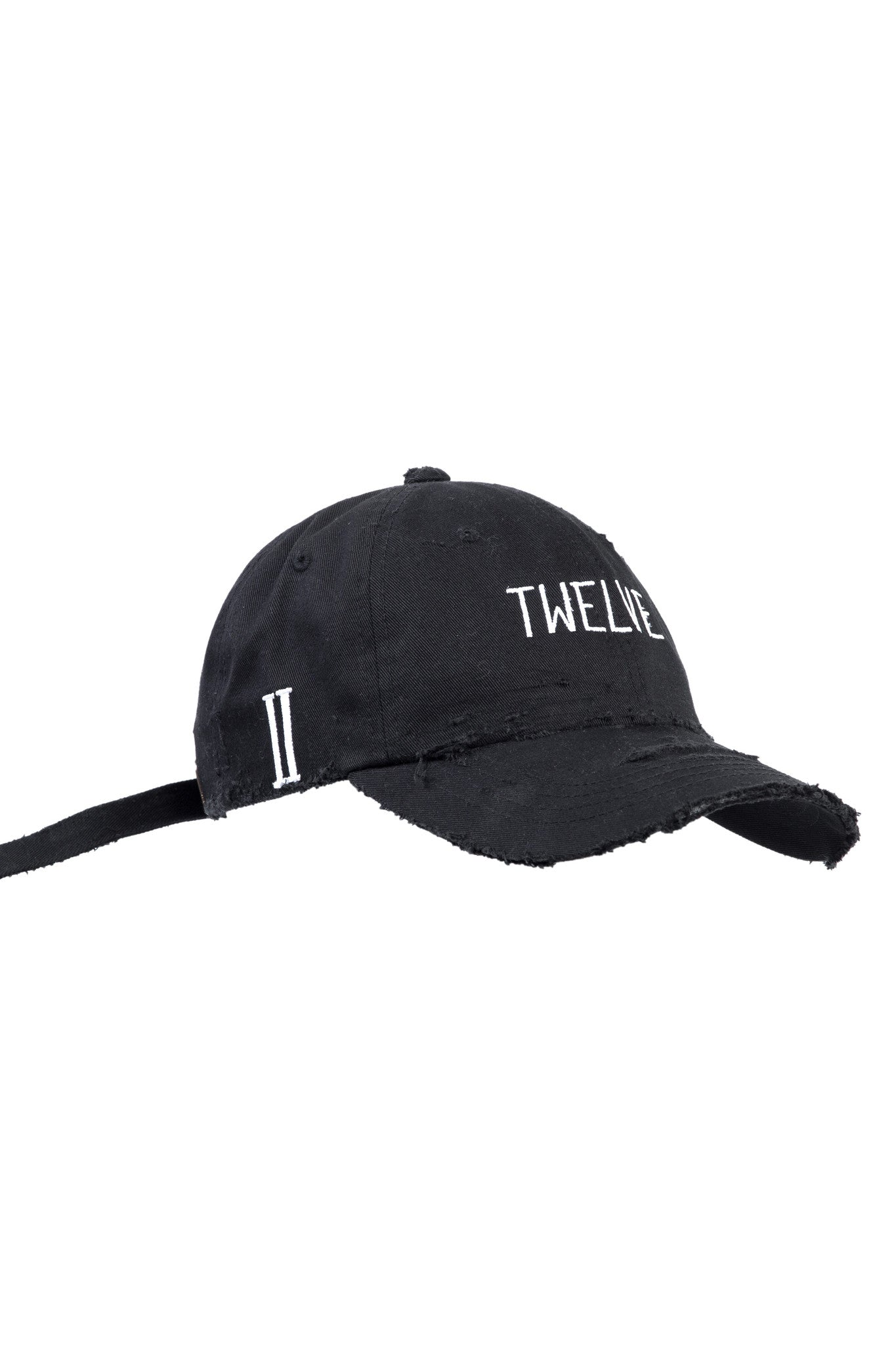 Distress Twelve Cap Black