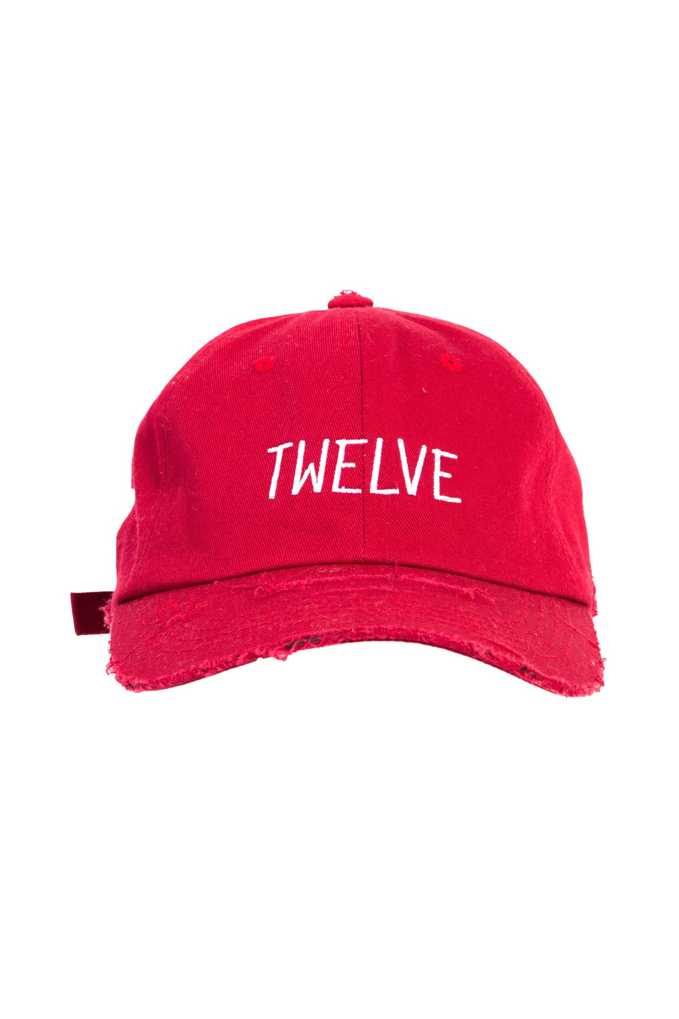 Distress Twelve Cap RED